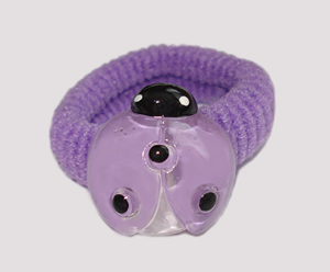 #SF0470 - Scrunchie Fun - Purple Band, Purple Ladybug