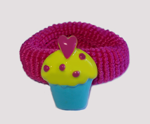 #SF0485 - Scrunchie Fun - My Little Cupcake, Magenta Band