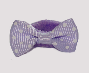 #SFSD60 - Scrunchie Fun - Lovely Lavender with White Dots
