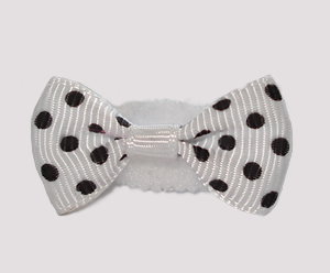#SFSD61 - Scrunchie Fun - Chic White with Black Dots