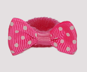 #SFSD64 - Scrunchie Fun - Perfect Pink with White Dots