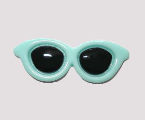 #SG007 - Dog Hair Clip - Sizzlin' Summer Sunglasses - Light Blue