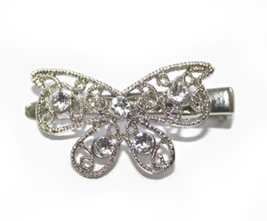 #ASPKLBT157_1 - Uptown Sparkle, Butterfly Bow Clip with Bling
