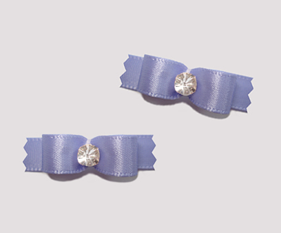 "#T8870 - 3/8"" Dog Bow - Satin, Sweet Lavender with Rhinestone"