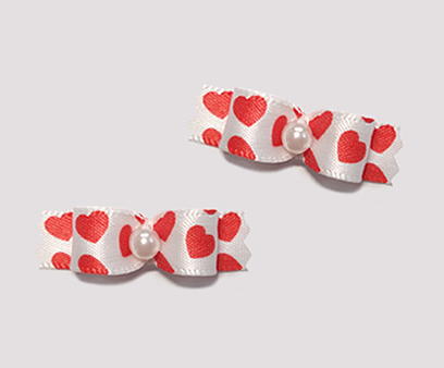 "#T8916 - 3/8"" Dog Bow - Adorable, Mini Sweet Hearts"