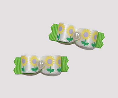 "#T9059 - 3/8"" Dog Bow - Sunflower Sweet"