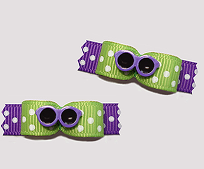 "#T9109 - 3/8"" Dog Bow - Be Seen Cool Shades, Green/Purple"