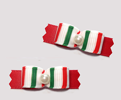 "#T9235 - 3/8"" Dog Bow - Sweet Candy Cane Stripes"