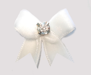 #VEL002 - Velvet Mini with Rhinestone Angelic White