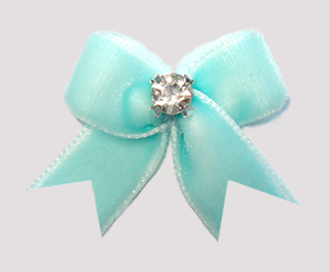 #VEL008 - Velvet Mini with Rhinestone Awesome Aqua