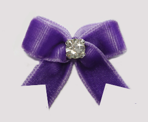 #VEL040 - Velvet Mini with Rhinestone Pretty Purple
