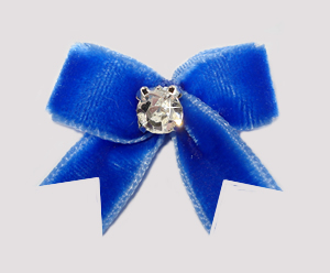 #VEL050 - Velvet Mini with Rhinestone Beautiful Blue