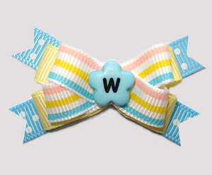 #BTQM950 - Mini Boutique Bow Baby Sweet Pastels, Stripes/Dots