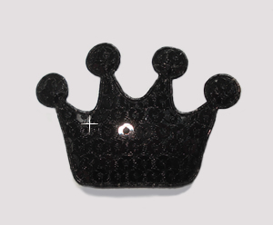 #BAR01073 - Dog Clip - Royal Crown, Sparkly Black Sequin