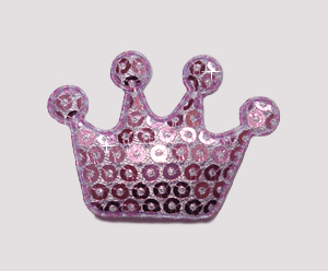 #BAR01075 - Dog Clip - Royal Crown, Sparkly Purple Sequin