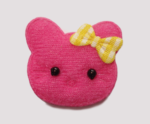 #030 - Kitty Klip - Hot Pink Kitty with Yellow Bow