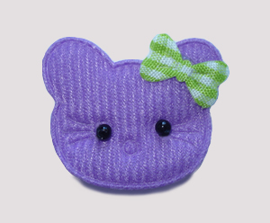 #090 - Kitty Klip - Purple Kitty with Green Bow