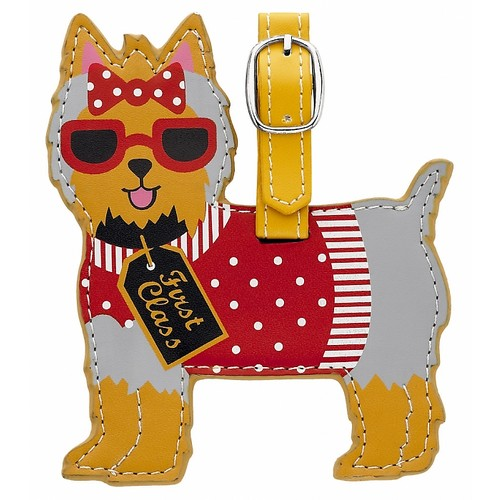 #LTYT - Leather Luggage Tag - Yorkshire Terrier