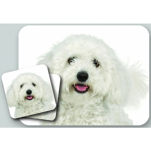 Mousepad and Coaster Set, Maltese
