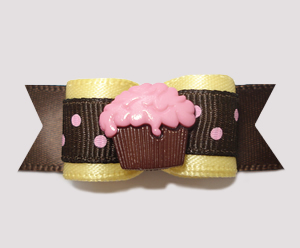 "#0613 - 5/8"" Dog Bow - Cupcake, Lemon, Strawberry 'n Chocolate"