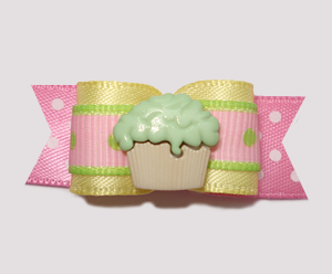 "#0700 - 5/8"" Dog Bow - Lemon, Strawberry, Touch of Lime, Cupcake"