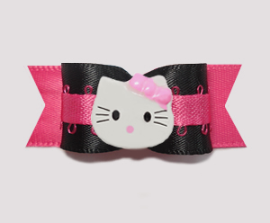 "#0768 - 5/8"" Dog Bow - Unique. Dramatic. Fun! Little Kitty"