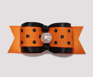 "#0809 - 5/8"" Dog Bow - Simply Classic Fall/Halloween"