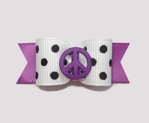"#0940 - 5/8"" Dog Bow - Chic Peace, Orchid Purple"