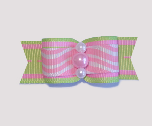 "#1795 - 5/8"" Dog Bow - Custom - Squigglies, Pinks or Pearls"