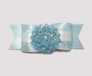 "#2001 - 5/8"" Dog Bow - Baby Blue Bling!"