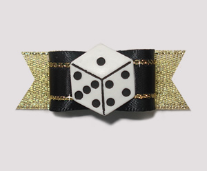 "#2012 - 5/8"" Dog Bow - High Roller, Lucky Die on Gold"