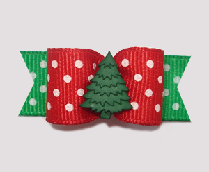 "#2048 - 5/8"" Dog Bow - Let It Snow!, Evergreen"