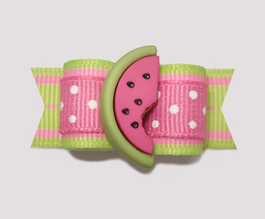 "#2168 - 5/8"" Dog Bow - Fun, Fresh Picnic, Sweet Watermelon"