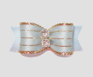 "#2177 - 5/8"" Dog Bow - Razzle Dazzle, Robin's Egg Blue"