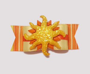 "#2198 - 5/8"" Dog Bow - Sizzlin' Summer Sun, Orange/Yelllow"