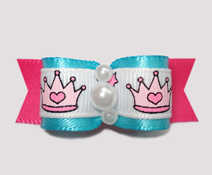 "#2297 - 5/8"" Dog Bow - Princess with Dramatic Sense of Style"
