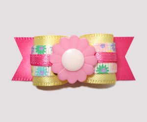 "#2427 - 5/8"" Dog Bow - Sweetness Galore, Adorable Flower Garden"
