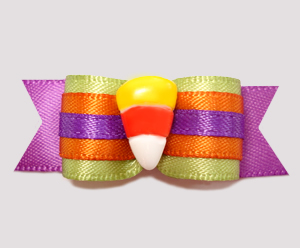 "#2476 - 5/8"" Dog Bow - Super Cute, Super Sweet Candy Corn"