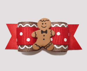"#2503 - 5/8"" Dog Bow - Sweet Gingerbread Sprinkle"