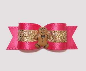 "#2528 - 5/8"" Dog Bow - Gingerbread Princess"