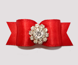 "#2655 - 5/8"" Dog Bow - Stunning, Classic Red Elegance"