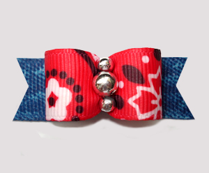 "#2780 - 5/8"" Dog Bow - Country/Western Red Bandana & Denim"