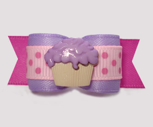 "#2968 - 5/8"" Dog Bow - Little Cupcake Sprinkle, Lavender/Pink"