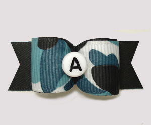 "#2973 - 5/8"" Dog Bow - Custom - Camouflage, Choose Your Letter"