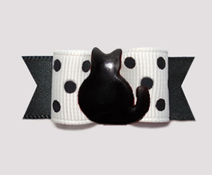 "#3197 - 5/8"" Dog Bow - Purr-fect Little Black Cat"