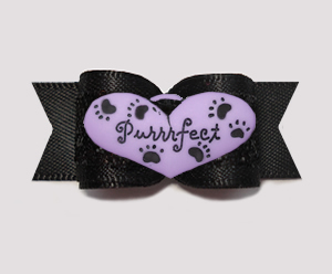 "#3208 - 5/8"" Dog Bow - ""I'm Perfect"", Purr-fectly Cute Bow"
