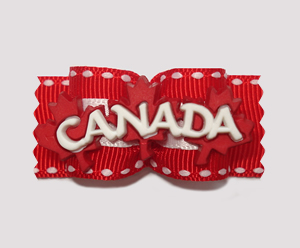 "#A7039 - 7/8"" Dog Bow - Patriotic ""Canada"""