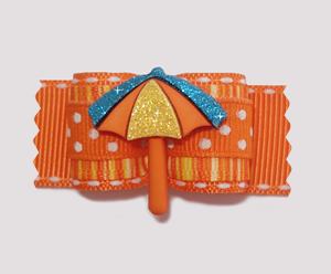 "#A7044 - 7/8"" Dog Bow - Summertime Fun, Sparkling Sunbrella"