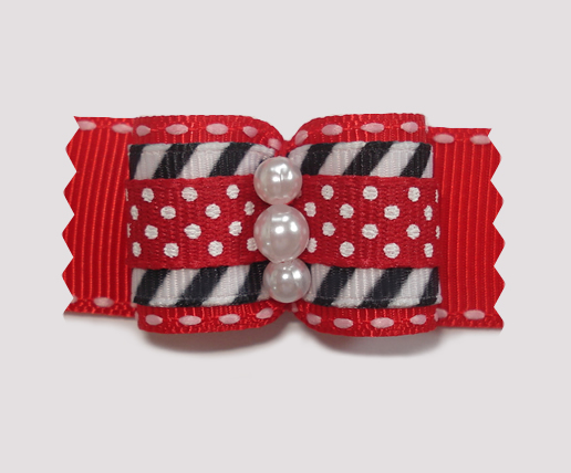 "#A7098 - 7/8"" Dog Bow - Cool, Unique & Stylish: Red"