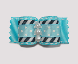 "#A7099 - 7/8"" Dog Bow - Cool, Unique & Stylish: Blue"